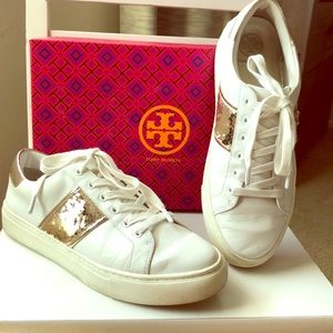 Authentic Tory Burch Carter Lace Up Sneaker